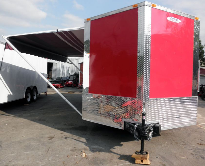 NEW 8.5 X 24 RED ENCLOSED TRAILER CAR BIKE TOY EVENT ATV HAULER