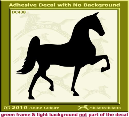 Saddlebred Horse Trailer Auto Window Decal Sticker 438